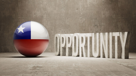 opportunity concept: Chile Opportunity Concept Stock Photo