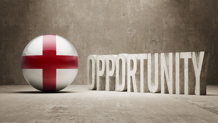 opportunity concept: England  Opportunity Concept Stock Photo