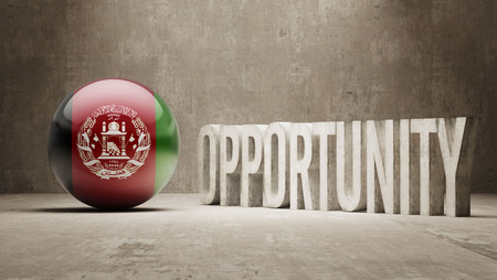 opportunity: Afghanistan   Opportunity Concept Stock Photo