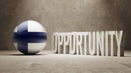 opportunity: Finland   Opportunity Concept Stock Photo