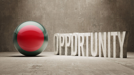 opportunity concept: Bangladesh   Opportunity Concept Stock Photo