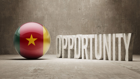 opportunity concept: Cameroon Opportunity Concept Stock Photo
