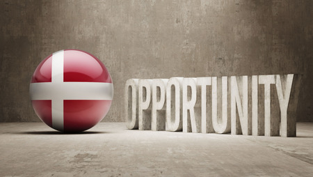 opportunity concept: Denmark  Opportunity Concept Stock Photo