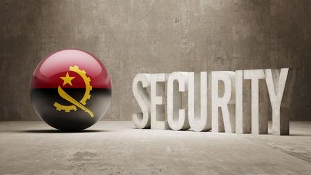 angola: Angola  Security Concept Stock Photo