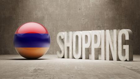 consumerist: Armenia   Shopping concept Stock Photo