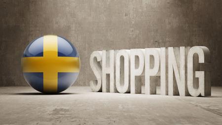 consumerist: Sweden  Shopping concept Stock Photo