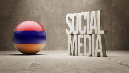 armenian: Armenia  Social Media Stock Photo