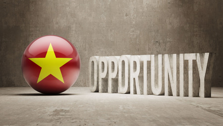 opportunity concept: Vietnam   Opportunity Concept Stock Photo