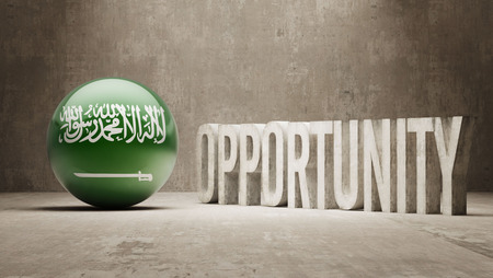 opportunity concept: Saudi Arabia Opportunity Concept Stock Photo