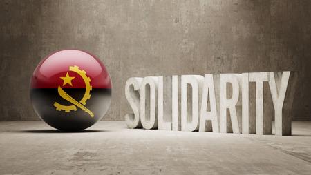 angola: Angola   Solidarity Concept Stock Photo