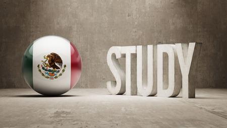 study concept: Mexico   Study Concept Stock Photo