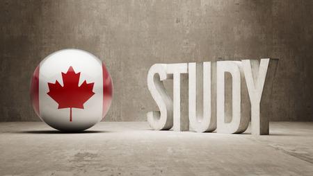 study concept: Canada Study Concept Stock Photo
