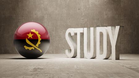 angola: Angola   Study Concept Stock Photo