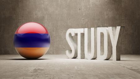 study concept: Armenia Study Concept Stock Photo