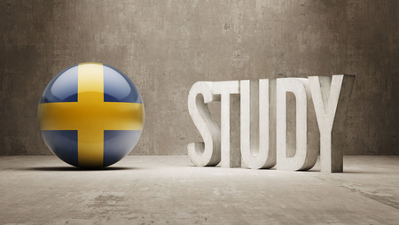 education in sweden: Sweden Study Concept Stock Photo
