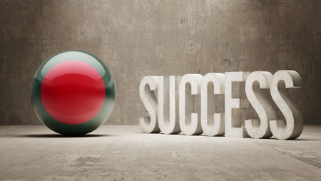success concept: Bangladesh Success Concept Archivio Fotografico