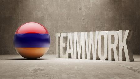 armenian: Armenia   Teamwork Concept