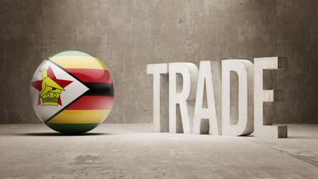 zimbabwe: Zimbabwe  Trade Concept Stock Photo