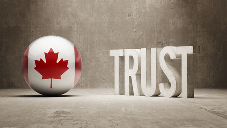 confianza concepto: Canada Trust Concept