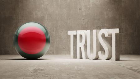 confianza concepto: Bangladesh Confianza Concept Foto de archivo
