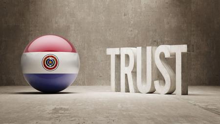 confianza concepto: Paraguay Confianza Concept