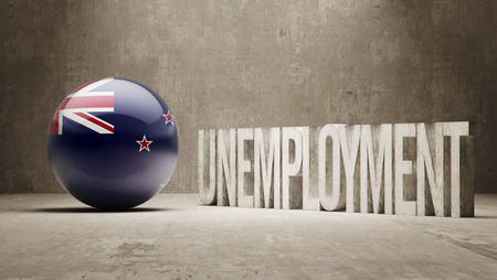 unemployment: New Zealand   Unemployment Concept