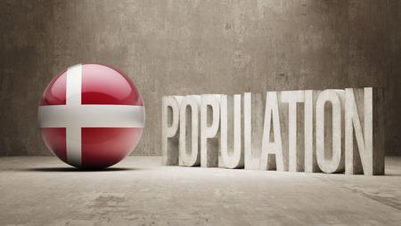 humane: Denmark  Population Concept Stock Photo