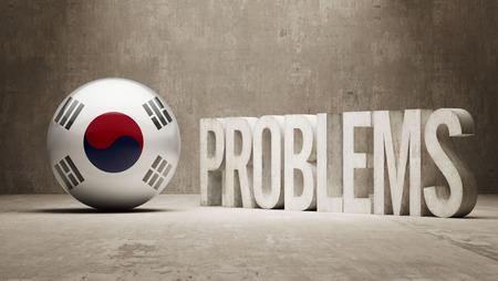 rectify: South Korea   Problems Concept Stock Photo