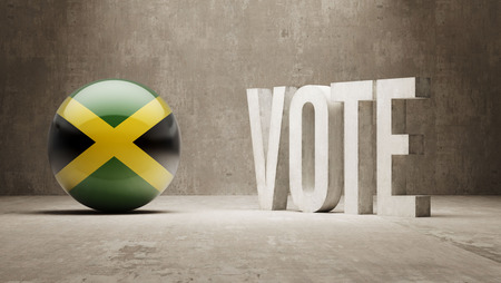 Jamaica  Vote Concept Stock Photo