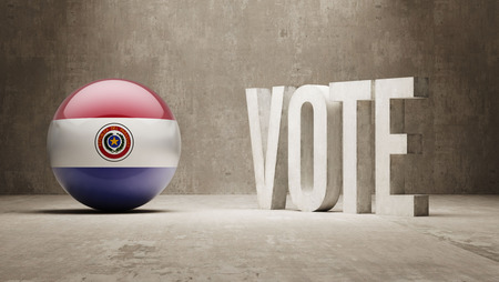 Paraguay Vote Concept photo