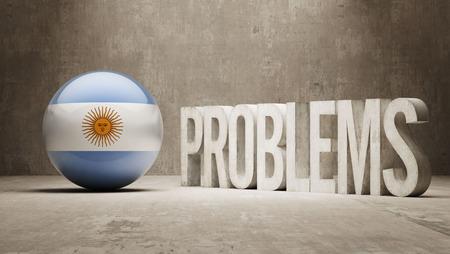 rectify: Argentina Problemi Concetto Archivio Fotografico