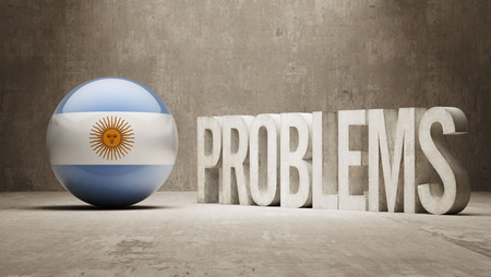 rectify: Argentina Problems Concept Stock Photo