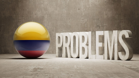 rectify: Colombia Problems Concept Stock Photo