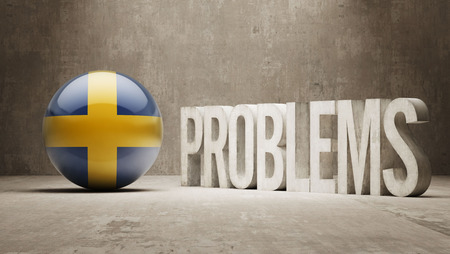 rectify: Sweden  Problems Concept Stock Photo