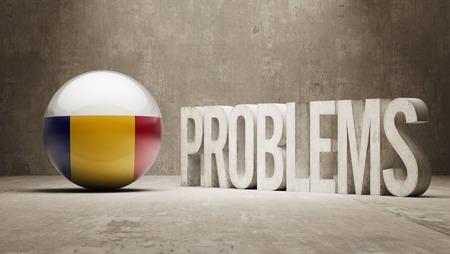 rectify: Romania   Problems Concept Stock Photo