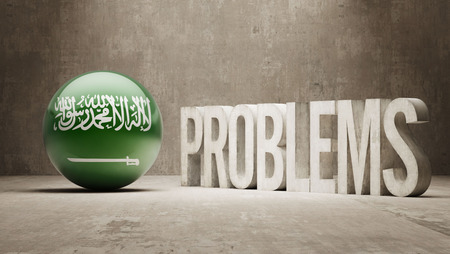 Saudi Arabia  Problems Concept photo