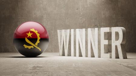 angola: Angola   Winner Concept Stock Photo