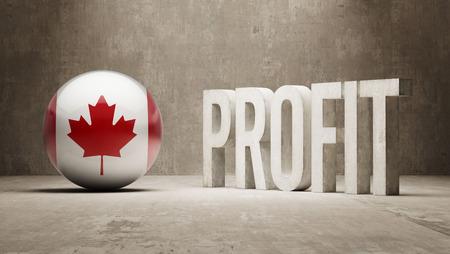 Canada   Profit Concept Stock Photo