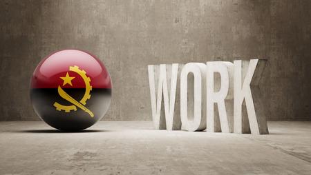 angola: Angola  Work Concept Stock Photo