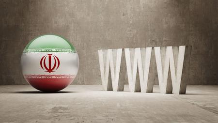 url virtual: Iran WWW Concept Stock Photo