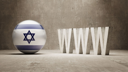 url virtual: Israel WWW Concept Stock Photo