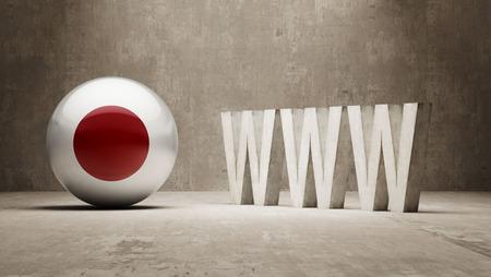url virtual: Japan High Resolution WWW Concept Stock Photo