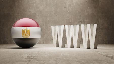 url virtual: Egypt   WWW Concept Stock Photo