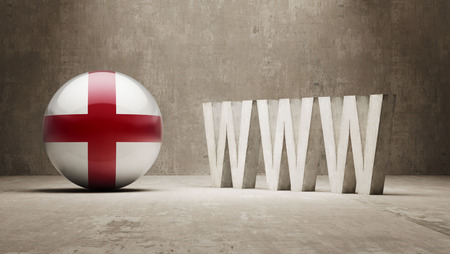 url virtual: England  WWW Concept Stock Photo