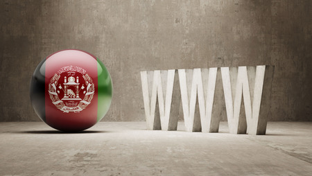 url virtual: Afghanistan  WWW Concept Stock Photo