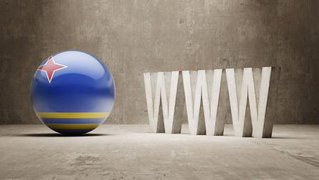 url virtual: Aruba   WWW Concept Stock Photo