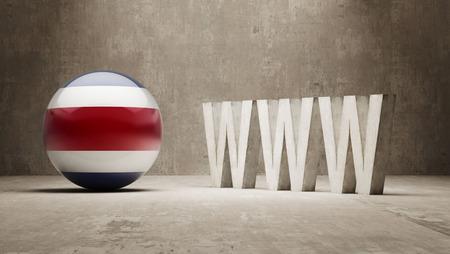 url virtual: Costa Rica   WWW Concept