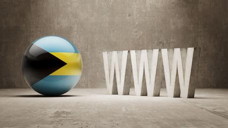 url virtual: Bahamas   WWW Concept Stock Photo