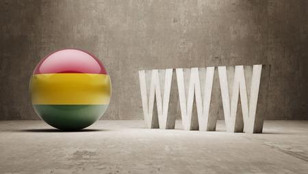 url virtual: Bolivia  WWW Concept Stock Photo