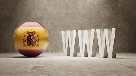 url virtual: Spain   WWW Concept Stock Photo